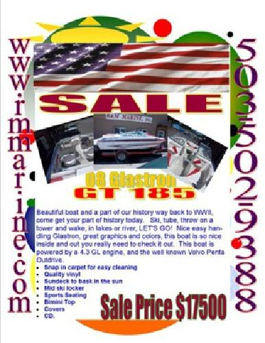 $16,500 2008 Glasstron BEST DEAL EVER RIGHT HERE! V6 SEXY
