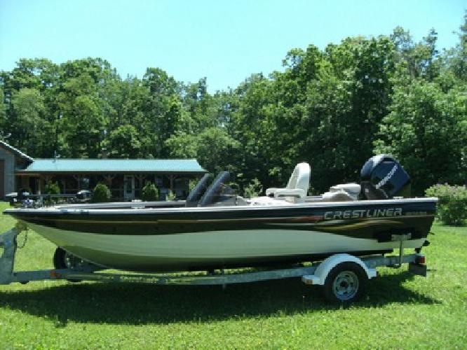 2006 Crestliner 1850 Fish Hawk 115 4st. Mercury with less than 100hr and trailer
