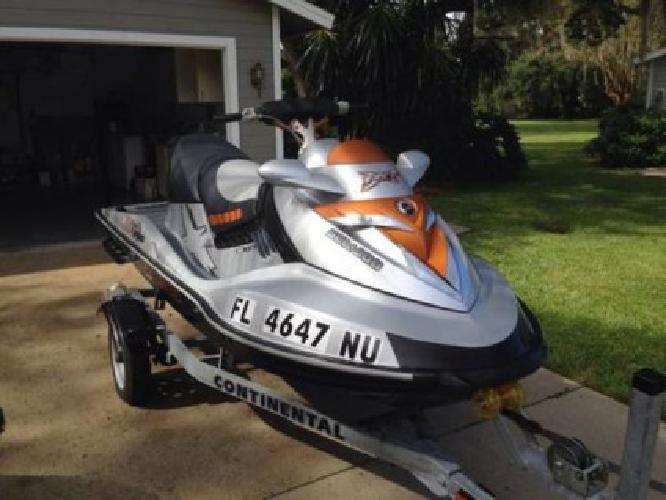 2008 Seadoo RXT X 255 HP 117 hours, with a 2012 continental aluminum trailer