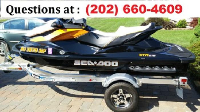 2013 Seadoo GTR 215 With Trailer & Extras