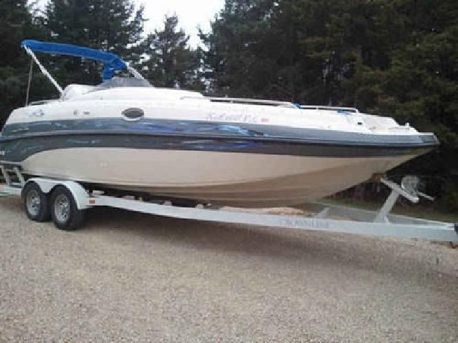 $24,500 Crownline Deck Boat- Loaded with Extras including a new engine