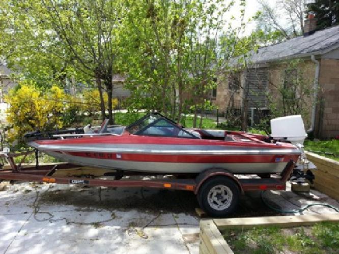 $2,500 OBO 1985 15.5 foot fiber king speed/fishing boat