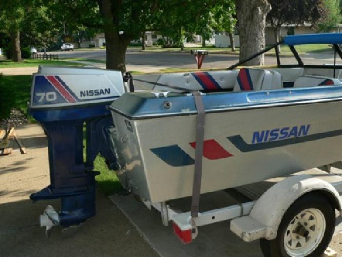 $3,400 1989 Nissan Boat w/70 HP Nissan Motor
