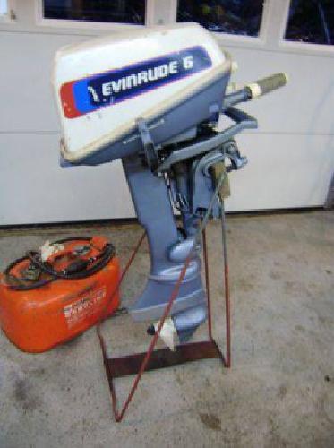 $500 6hp Evinrude outboard
