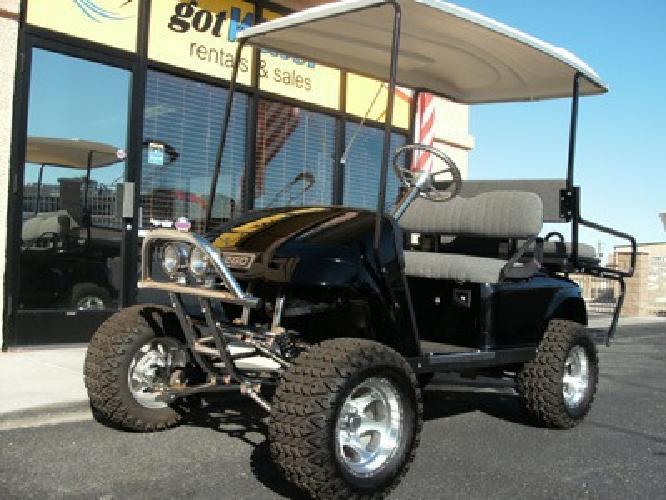 $5,295 Customized, Lifted EZ-Go Golf Cart, Gas - 2001