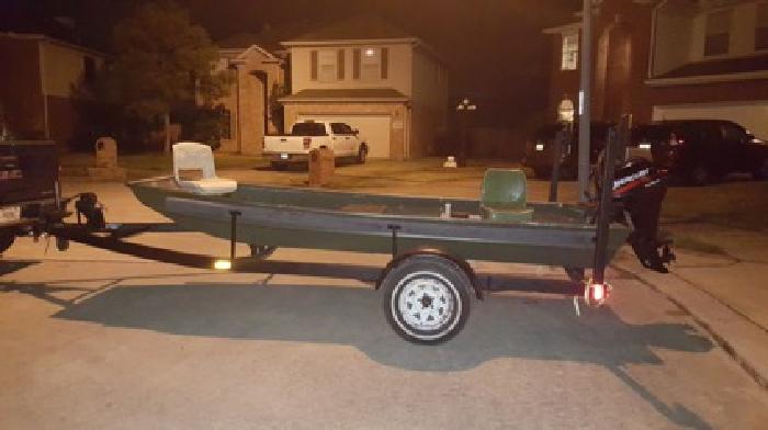 Boat, 15 HP Mercury 4 Stroke, Trailer