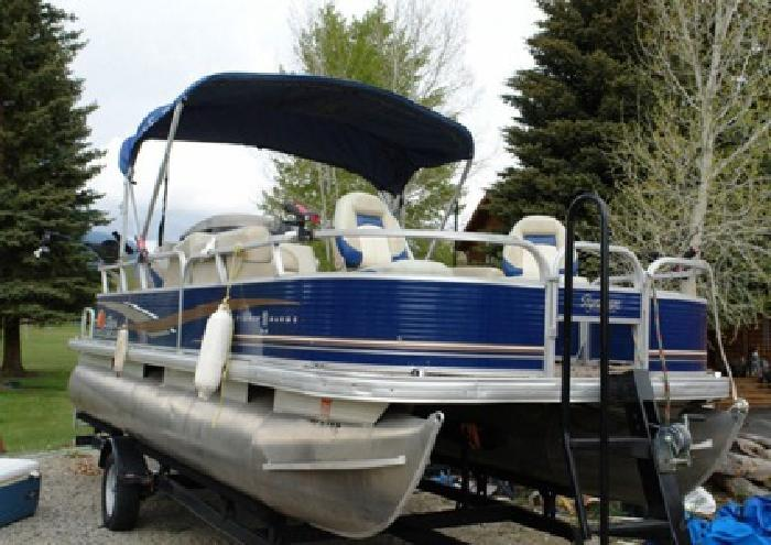 *~sq8A*~ 2012 Tracker Fishing Barge DLX 20 ~HFDF.8*