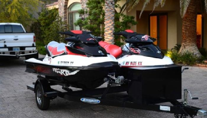Two SEA DOO WAKE 215s}}}}} with Ziem Trailer,{{{{{ fresh water, garage kept