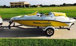 2005 Seadoo Sportster Speedster 150 jet boat. The boat is in mint condition with thousands in extras as listed below. Boat has always been garage kept or kept under the factory Seadoo cover when on trips. I have always flushed the motor after each use and