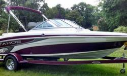 """2010 and have not used it as much as we wanted to. We put less than 40 hours on the boat itself. We just need to sell it to let somebody enjoy her. It is a Q4 and it measures 18'1"""" bow to stern and powered by the Mercruiser 3.0L TKS 135HP engine. She is"""