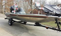 For Sale is an Excellent condition 2009 Bass Tracker Pro 16. This Boat is like new. There are no rips or tears in the seats or carpet. It sets on a Matching Tracker Trailer that is in new condition as well. Tires are new. The boat comes with two batteries