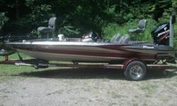 This is a lightly used Limited Edition Triton. At that time it had 86hrs on the motorI used it for 2 seasons There are no splits or wear marks on any of the upholstery. And carpeting is clean and near new. It has lots of toys employed by a top angler,