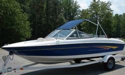 2007 Bayliner Bow Rider very clean, and has nice trailer,equipped with a Mercruiser 3.0L, Wakeboard tower w/ speakers, Bimini top, Single axle trailer. For more information or pictures respond to text (720) 961-396fourThe Bayliner 175 Bowrider is a great