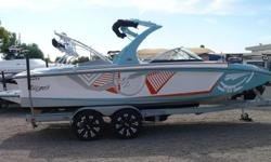 *** New Arrival! *** In Stock and Available Today! Please call for more information and Model Year End Sale Pricing!!* 2013 Tige RZ2 Aqua Blue and Tangerine* PCM 343 Excalibur Motor* Surf Ballast System* Alpha Z Tower* Bimini Top* Tige Touchscreen* Tige