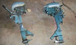 Selling two Evinrude 7.5 horsepower Fleetwin. 1 is a 1952, does run. The other is a 1951, I use this 1 for parts. Both motors are complete. $100 for both (firm). Call 414-702-8088Listing originally posted at http