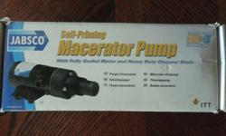 Jabsco Macerator pump, 24 v. $100.00 Call if iinterested, no emails. 502-712-1025 Brand new, in the box. Never pre-ownedListing originally posted at http