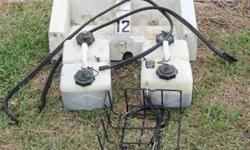 COMPLETE REMOTE OIL TANK SET-UP FIBERGLASS MOUNTING BRACKET INCLUDED MERCURY 3=GALLON REMOTE TANKS ARE FILLED WITH GOOD 'OPTI' OIL ****THIS IS A COMPLETE SET-UP***** THE OIL ALONE IS WORTH $20 PER GALLON CALL OR E-MAILkarlsbad1@yahoo.com Listing