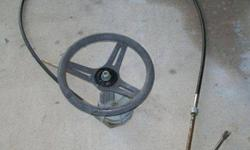 Steering Wheel Control Rotary Helm Cable Boat Marine Morse steering kit Complete assembly, 10ft cable & OEM Johnson Evinrude Outboard Boat Motor Steering Connecting Rod.This steering kit is COMPLETE, works great and ready to