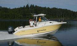 EV-300HP 2-STROKE, HARD TOP W/ LIGHT, AFT SEAT, FRESHWATER WASH DOWN, PORT MARINE HEAD, STAR WIND WIPER, SHORE POWER 110 VOLT, SIRIUS STEREO CD, SPOTLIGHT, LIMITED EDITION PACKAGE, WINDLASS DUAL ENGINE, SIRIUS SAT CONNECTION, ENGINE INSTALLATION, FULL