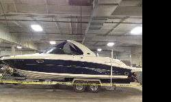 The 290 SLX is the ulitmate executive-level bow rider. Period. 85 Hours, Mint Condition, Comes with Trailer with Gooseneck. Trailer can be converted to standard hitch. Full Trailering Cover. 350Mag Motors with Bravo3 outdrives. Fantastic Boat Call Chris