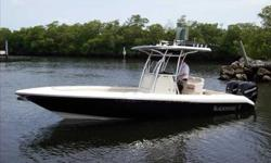 2010 Blackwood 27 CENTER CONSOLE A contemporary design for today's world. Ultimate construction of strength, styling and horsepower. 100% hand laid, Zero Flex, Kevlar reinforced double hull with high pressure injected floatation.The ultimate in Bay boats