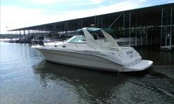 1997 Sea Ray 40 SUNDANCER Muscular 1990's express cruiser has the space, amenities owners seek in a luxury sport yacht. The spacious white cabnetry and interior features mid-cabin stateroom with privacy door, two heads, fully-equipped galley with generous