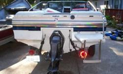 1986 bayliner 2.3 4 cvl. inboard engine, omc outdrive this boat has been in enclosed garage since new,pre-owned only a few times,like new conditionhas canvas,original owners manuals,had engine & outdrive rebuilt last year.new coil,tune-up,rebuilt