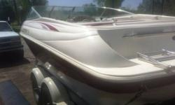 Have a 21 ft 97 Rinker Captiva with added speakers, new motor (chevy 350), bimini top, newer trailer (think 08), cd player, knee board, wake board tower (not on the boat) and about 10 life jackets for $10,000 obo. No low ballers, boat and trailer book out
