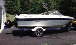 2003 Bayliner Capri , garage kept,like new, trailer has new paint,wheels, and tires, 3.0 liter engine, less than 100 hours, includes Bimini top, cover has cd player, etc. 304-667-3589This ad was posted with the eBay Classifieds mobile app.