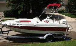 2005 VIP DECLINER 183, 90 HP JOHNSON SALTWATER EDITION, porta potti, baitwell, trolling mother plug on the bow, bimini top, new interior, recent leaf springs on trailer and tires, AM/FM CD player.
