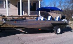 Boat was purchased in 2009 from a friend. Put 4 new seats, canopy, stereo and 2 speakers in. Has been used several times through out the summer but with work there is no time to enjoy it anymore. It runs GREAT and is perfect for a family day on the river.