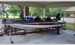 2005 BumbleBee bass boat eighteen feet with 175HP evinrude, dual consoles, trolling engine, hot foot, fish finder, depth finder, plenty of storage, maroon and white in color, terrific shape, everything works, asking $10,000, please call david at