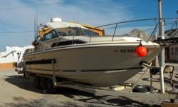 27 ft cabin cruiser, twin 350 engines, fish finder/GPS, radio, sleeps 6, galley, head w/ shower, great shape. Call to see