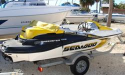 This is a Speedster 150 155HP Jet with Sea Doo Trailer, Bimini