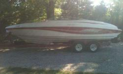 1996 Rinker 232 Captiva. 23 feet bowrider with trailer. 454 engine bravo 1 outdrive stainless propeller, have a road cover and a full storage cover, newer radio and speakers, brand new tires just put on at the end of the summer. Call or text with any