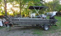 2007 19ft Mirrocraft huting/fishing boat 60hp e-tec motor, power tilt and trim with stainless prop I purchased boat new in 2008 at sportsman show. has set up for bow fishing lights minnkota power anchor minnkota foot control trolling motor 2 batteries