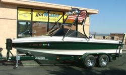 ATTENTION ALL BOARDERS AND SKIERS!!If you're a boarder, a skier, or a tuber looking for an inexpensive competition ski boat this summer.....Take a look at this!! This 2001 Calabria Competition Ski Boat is a great value! Mechanically very sound, new annual
