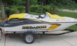 2008 Sea-doo Speedster 150. Excellent condition, only 14 hours run time. 155 hp fuel injected Rotax engine. Sea-doo (Karavan) trailer. Adult driven- very clean. Jet boat - great for watersports, tows a large tube easily, has pop up tow bar. Will do 50+