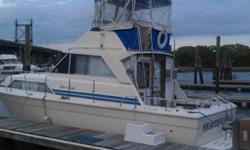 Radar, GPS, Fish, Depth finder, Dual Stations, air conditioning, heat, hot water heater, electric head w/shower, New Stainless Steel Gasoline Tanks, Marine Power Fresh water Cooled Chevrolet 5.7L, 350CI engines, Dripless stuffing boxes, trim tabs, galley,