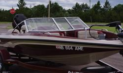 2001 nitro fish n ski. under 100hrs on boat/motor. trolling motor, fish finder(new), 2 live wells, fishing pole locker, ski locker, ski tow pole, stereo, lots of storage, good tires, break away tongue. inside stored. like new condition. 402-322-1188