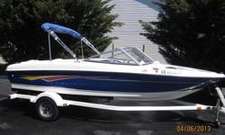 2007 Bayliner 175 Bowrider *17.5-foot fiberglass sport boat, With Single Axle Trailer *3.0-liter, 135 horsepower Mercruiser engine *Top Speed 50 mph *Rated For 7 People *Dry Weight