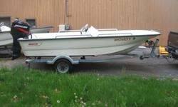 2004 15 FT BOSTON WHALER S/S2007 50 HP SUZUKI 4 STROKE LOW HOURS FRESH WATER USE2004 MATCHING BOSTON WHALER TRAILERNO BOTTOM PAINTONLY EMAILS W/ PHONE NUMBERS WILL BE RETURNEDMOTOR IN PHOTO IS NOT THE SUZUKIASKING 10,700 OR BO