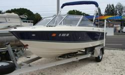 130 HP Mercruiser 3 litre, 2012 new aluminum trailer, bimini, new pedestal seats, rod holders, new prop, new am/fm radio, full cover, new spare tire.