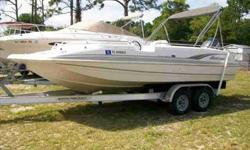 2002 Hurricane 201 GS FUN DECK Popular Hurricane 201GS FunDeck. Complete package includes low hour (320) Reliable Yamaha F115hp Four Stroke Outboard and Tandem Axle Aluminum Trailer. Great day boat includes Porta-Potty, Fresh Water System, Fishing package
