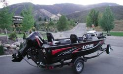 Selling my baby, this black beauty 2009 Lowe FM165 side console deep-V, 16.5? length x 82? beam, 50hp Merc OB, MinnKota Powerdrive bow electric trolling motor with foot control, matching bunk trailer with swing tongue and spare tire with carrier. This