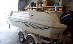 We have a great running starcraft deck boat for $10,900.00 with a 150ph outboard please feel free to come in and check it out any time between 8