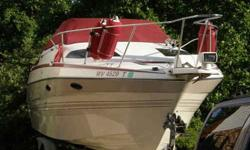 Boat is in good condition with 4.3 engine with Mercruiser, Alfa I Gen II package out drive and stainless steel prop. The 2300 SCR's came well equipped with factory features such as
