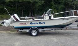 1989 Boston Whaler 17? Montauk 17 Ft Center Console, 1989 90 HP Johnson, Original Teak Swing Back Captains Bench, Garmin GPS / Fish Finder, New 15 Gallon Gas Tank, all new rubber hoses & tune up. Boat owned by only two owners. Runs Awesome!! Bilge Pump