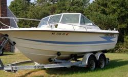 Ocean runner with 150HP johnson. Has VERY LOW hours! 1998 5-starr double axle trailer. Clean titles for both.Features