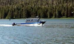 2007 North River Seahawk O/S 28-ft. aluminum hull. V-Berth, enclosed, stand-up head, seats six plus captain, spring ride helm chair, custom seats, large back deck w/hand rails, 140 gal. fuel, twin 150 horsepower Yamahas with 2200 hours. 8 h.p. Yamaha